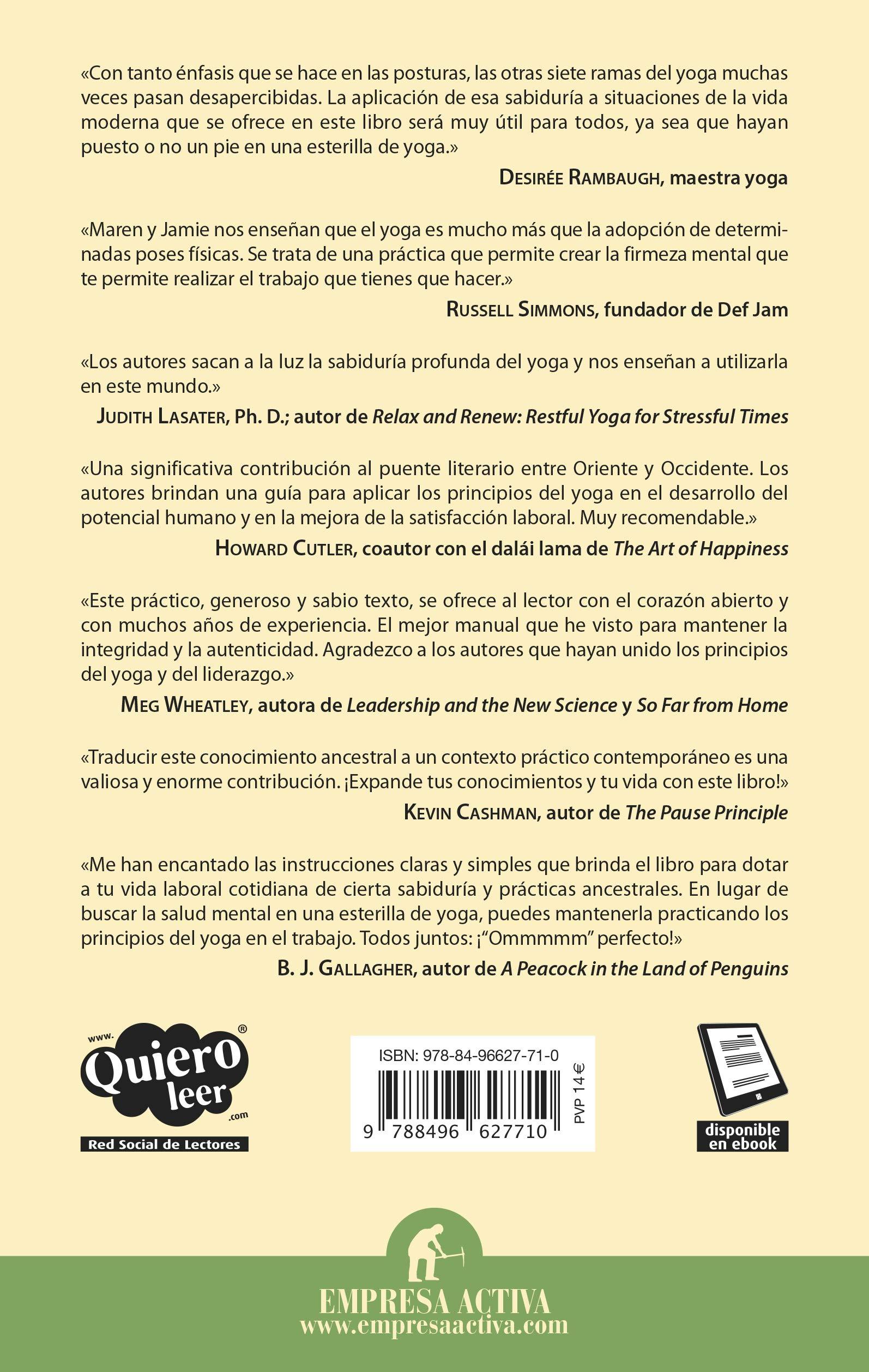 Filosofia yoga para el trabajo (Spanish Edition): Maren ...