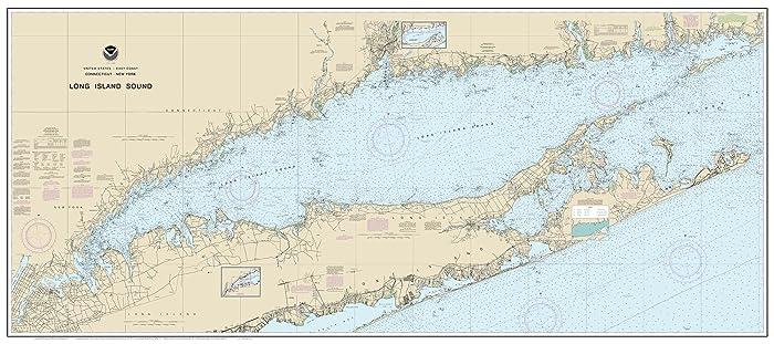 Amazon.com: Long Island Sound (Blue Water) - 2017 Nautical Map ...