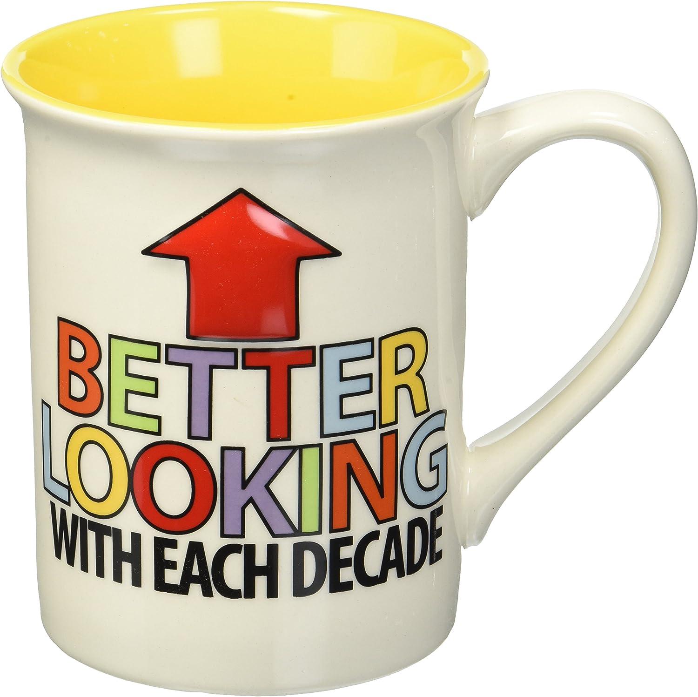 Multicolor 16 oz Enesco 4056343 50 Birthday Mouth Stoneware Mug