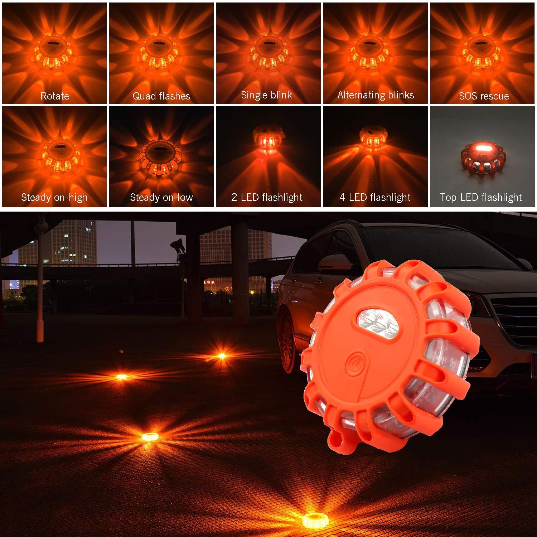 Amazon.com: DOTSOG 3 Pack LED Road Flares Flashing Warning ...
