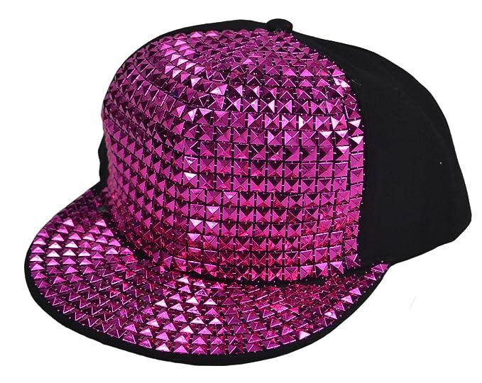 Nueva plano sombrero gorra de béisbol hip-hop Fashion lentejuelas: Amazon.es: Ropa y accesorios