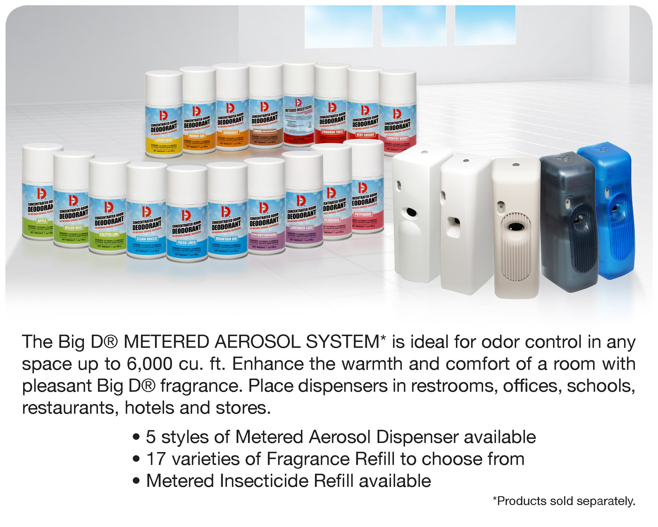 Big D 463 Concentrated Room Deodorant for Metered Aerosol Dispensers, Mountain Air Fragrance, 7 oz (Pack of 12) - Air freshener ideal for restrooms, offices, schools, restaurants, hotels, stores by Big D (Image #3)