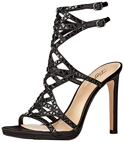 Imagine Vince Camuto Vince Camuto Womens Rettle Heeled Sandal Black Size 70