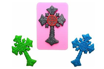 Silicona forma cruz Bautizo borde decoración de galletas Hornear Decoración para tartas mazapán Fondant