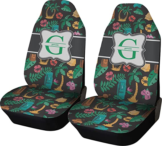 Amazon RNK Shops Hawaiian Masks Car Seat Covers Set Of Two Personalized Automotive