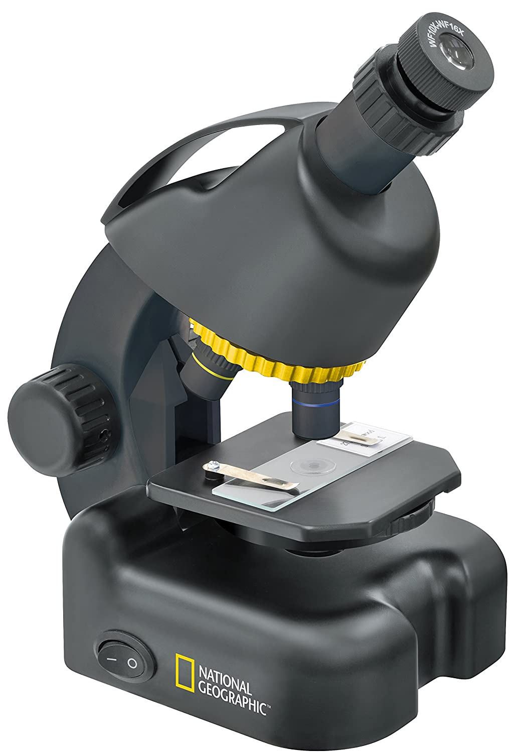 Microscopio National Geographic 40-640x con Soporte para Smartphone Bresser Optics 9119501
