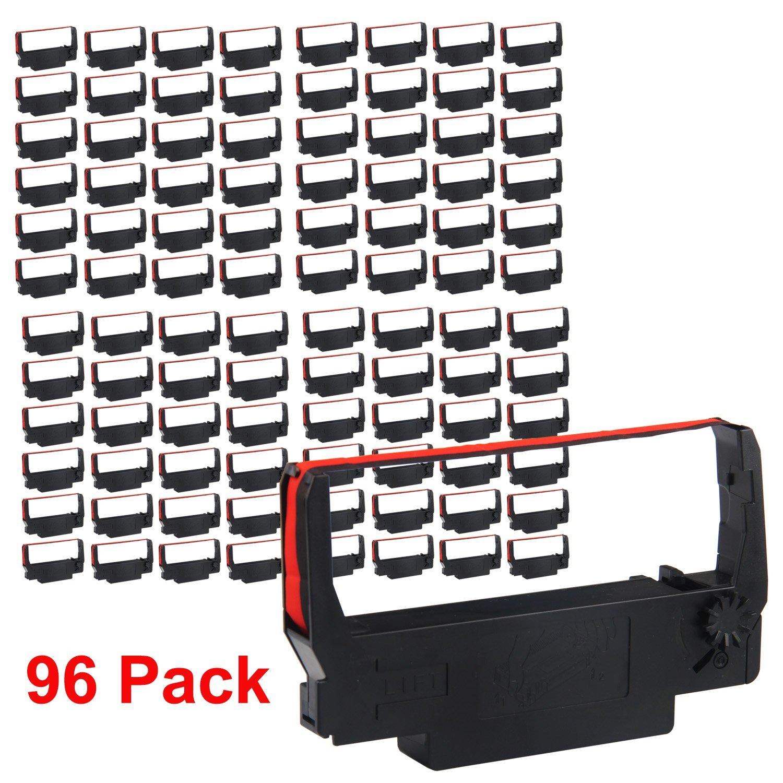 myCartridge ERC-30 ERC 30 34 38 B/R Compatible Ribbon Cartridge for use in ERC38 NK506 (Black Red , 96-Pack)