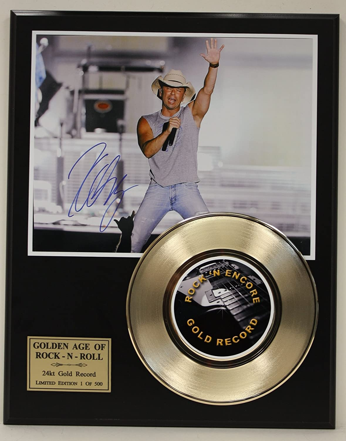 Kenny Chesney Gold Record Signature Series LTD Edition Display Gold Record Outlet