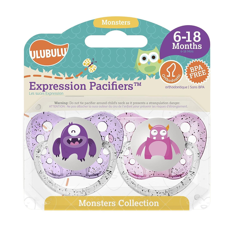 Amazon.com: Ulubulu Expresión Chupete Set para los niños: Baby