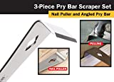 Titan Tools 17007 3-Piece Pry Bar and Scraper Set