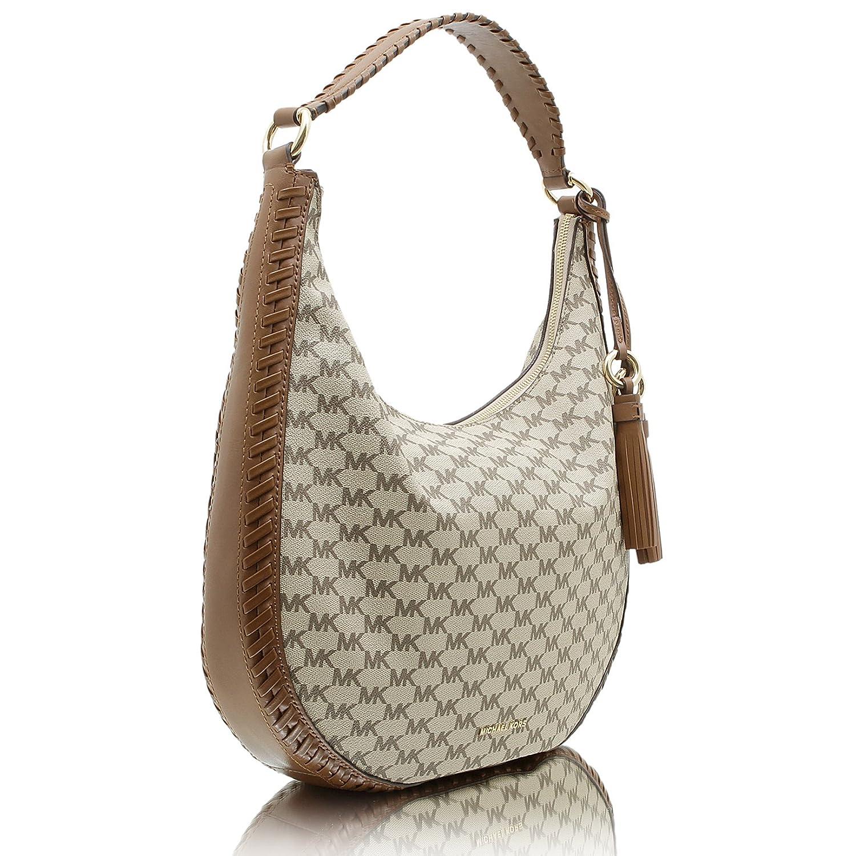 8d147afddaa3 Amazon.com: MICHAEL KORS LAURYN LARGE LOGO PRINT BAG Natural/Denim: Shoes