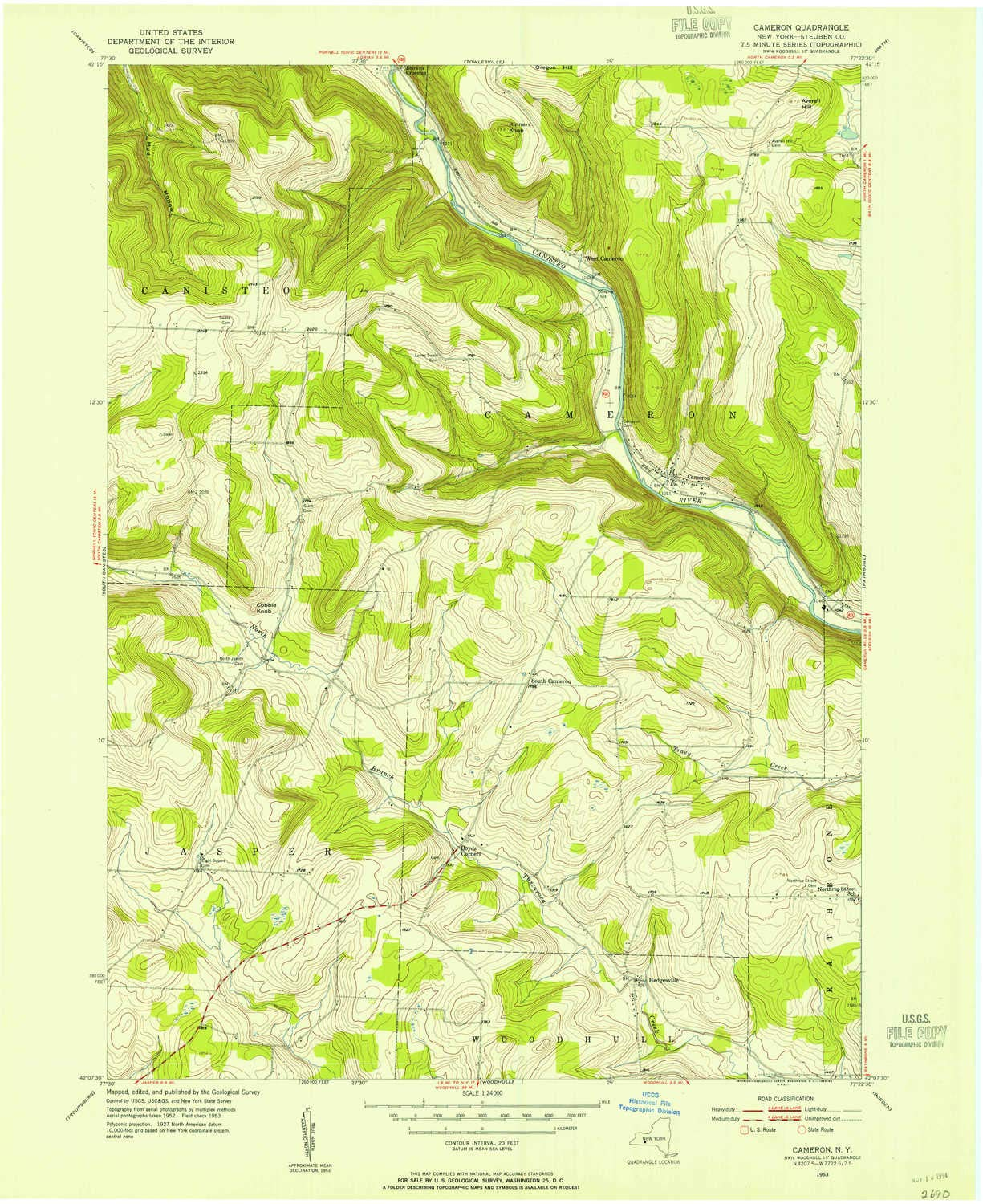 Topographic Map New York State.Amazon Com Yellowmaps Cameron Ny Topo Map 1 24000 Scale 7 5 X