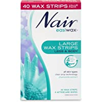 Nair Hair Remover Easiwax Large Wax Strips, Pack of 40