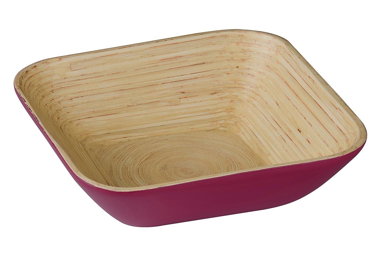 25 x 25 x 7 cm Spun Bamboo Premier Housewares Kyoto Salad Bowl Raspberry