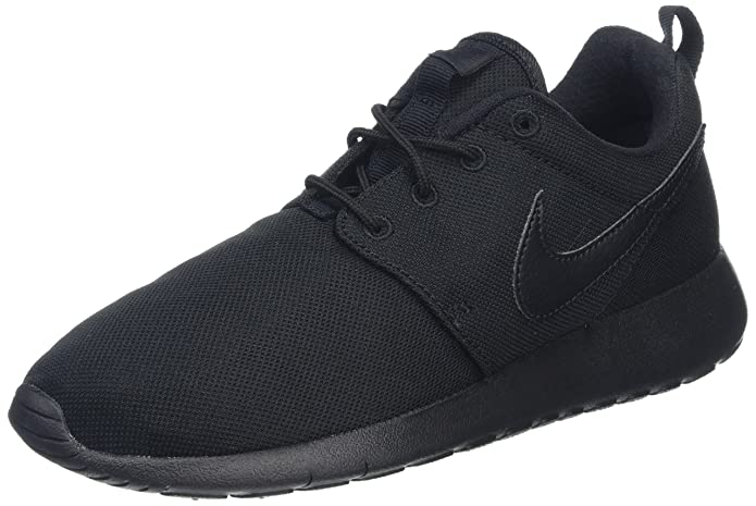 4d0185745f8b ... Amazon.com Nike 599728-031 Youth Roshe One Black Black Sneaker (4 M ...