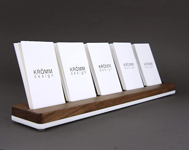 Amazon Wood Multiple Vertical Business Card Stand 5 Moo