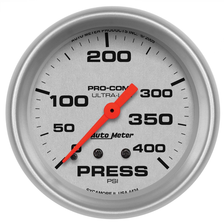 Auto Meter 4424 Ultra-Lite Mechanical Pressure Gauge by Auto Meter