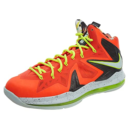 super popular c99f2 cadb5 NIKE Men s Lebron X P.S. Elite, TOTAL CRIMSON FIBERGLASS-BLACK-VOLT,