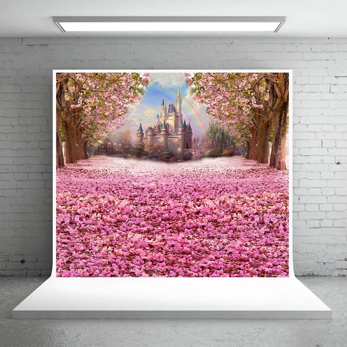 Levoo Landscape Flower Tree Background Banner Photography Studio Birthday Family Party Holiday Celebration Romantic Wedding Photography Backdrop Home Decoration 10x8ft,chy788