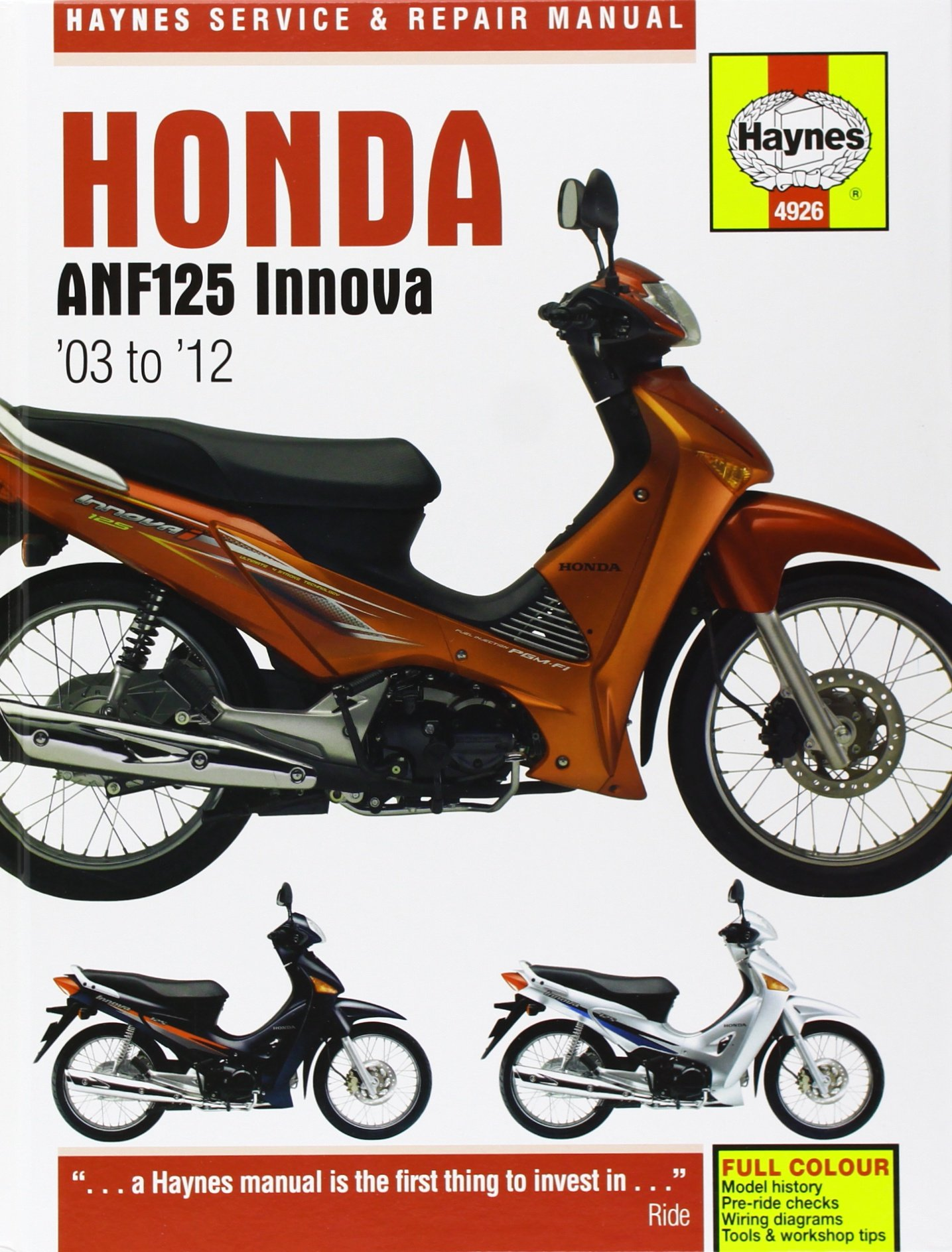 Honda anf125 innova service and repair manual haynes service and honda anf125 innova service and repair manual haynes service and repair manuals matthew coombs 9781844259267 amazon books fandeluxe Choice Image