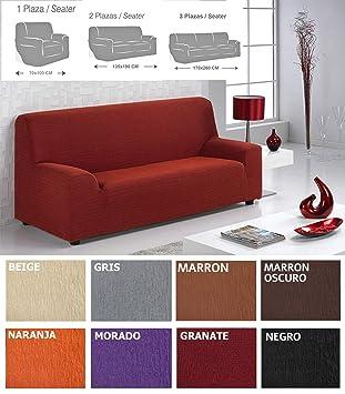 MercuryTextil Fundas de Sofas elasticas y adapatable, Funda Sofa 1,2,3 plazas Sofa Clic (Beige, 1PLAZAS 70-100CM): Amazon.es: Hogar