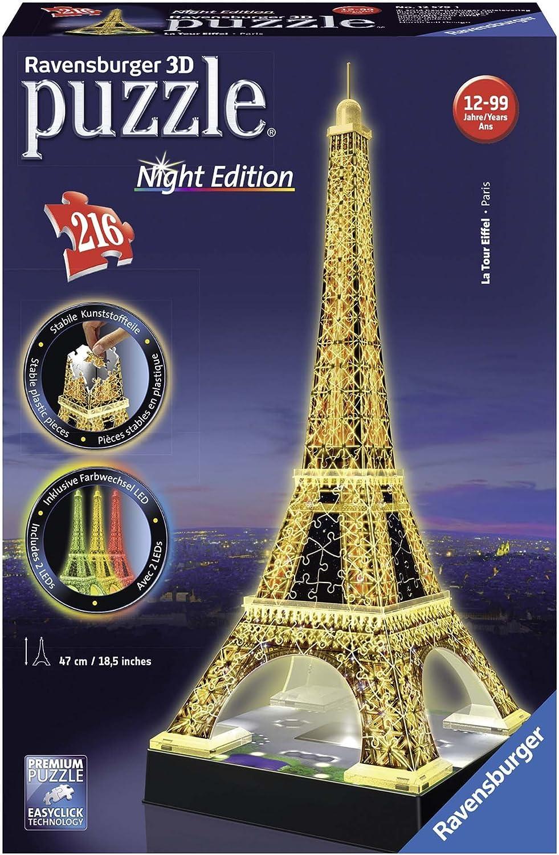 3d Puzzle Mit Led Beleuchtung Leuchtturm Bei Nacht 216 Teile Ravensburger Puzzle Online Kaufen