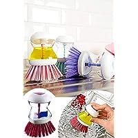 Helen's Home MTF.00421.00 Deterjan Hazneli Bulaşık Fırçası Kırmızı, Standart, Medium