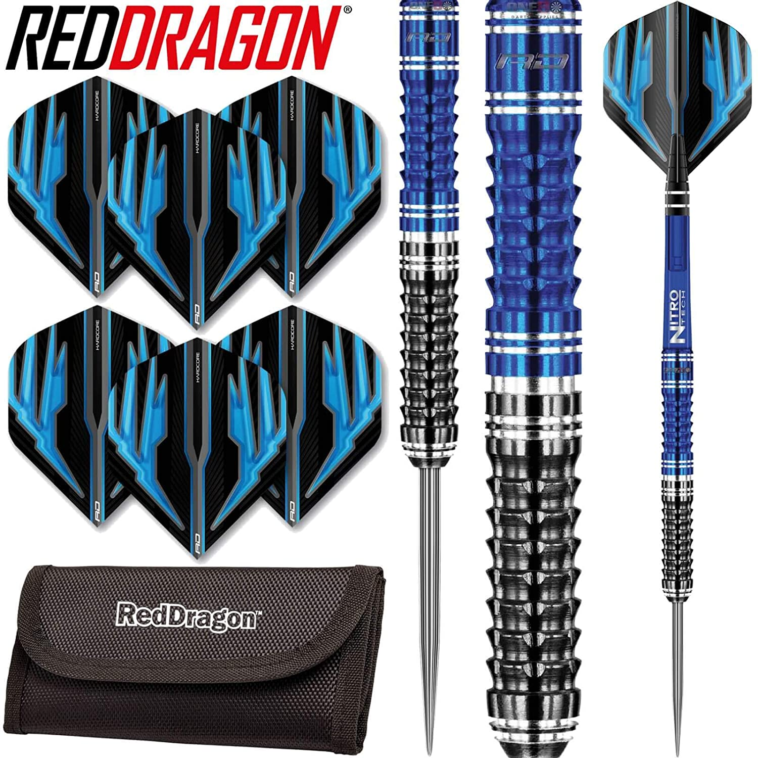 Shafts /& Wallet /& Red Dragon Checkout Card Red Dragon Delta 1-90/% Tungsten Steel Darts with Flights