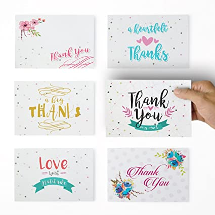 Amazon thank you cards 36 thank you notes for your wedding thank you cards 36 thank you notes for your wedding baby shower business reheart