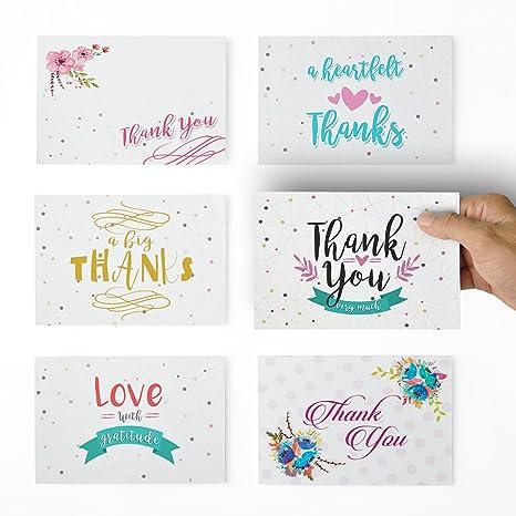 Amazon.com: Fancy Dots tarjeta de agradecimiento surtidas ...