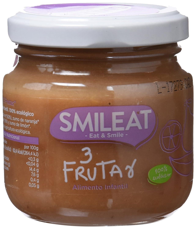 Smileat Tres Frutas Ecológico - Paquete de 12 x 130 gr - Total: 1560 gr: Amazon.es: Alimentación y bebidas