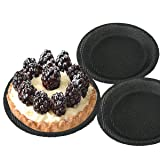 Bluedrop Mini Pizza Bread Molds Round Silicone Pita Forms Perforated Tatlets Sheets Non Stick Choux Mat Pack of 3