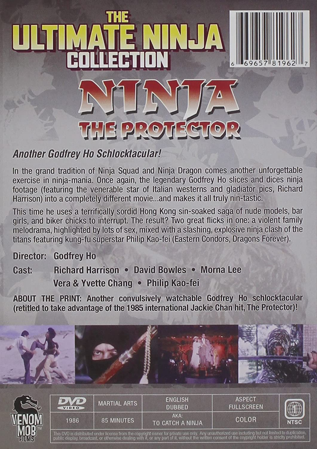 Ninja the Protector [USA] [DVD]: Amazon.es: Richard Harrison ...