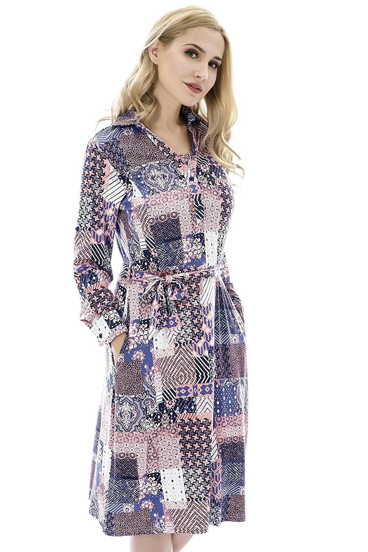 ef9f074e3023f ... Bearsland Womens Maternity Nursing Dresses Long Sleeve Comfy Breastfeeding  Dress Pockets ...