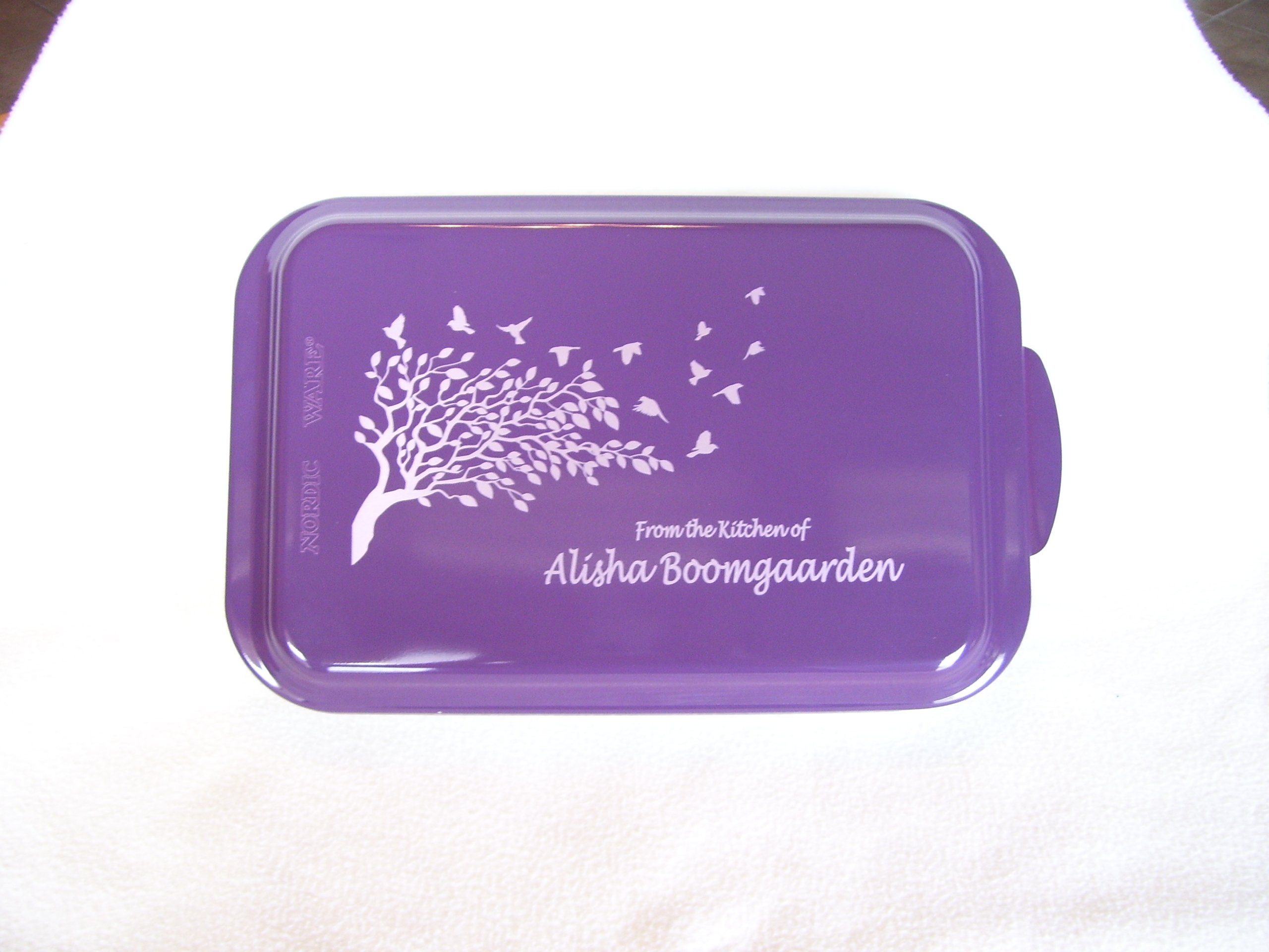Custom and Personalized Covered Cake Pan 24 Designs Your Wording (Purple)