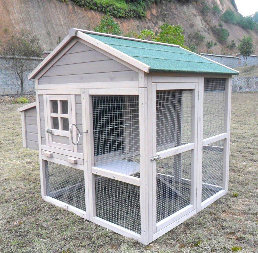 Hühnerstall Hühnerhaus Chickenhouse Nr. 04 Pickerparadies mit Eierbox und Freilauf