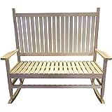 Redstone Natural Wood Rocking Chair Garden Bench