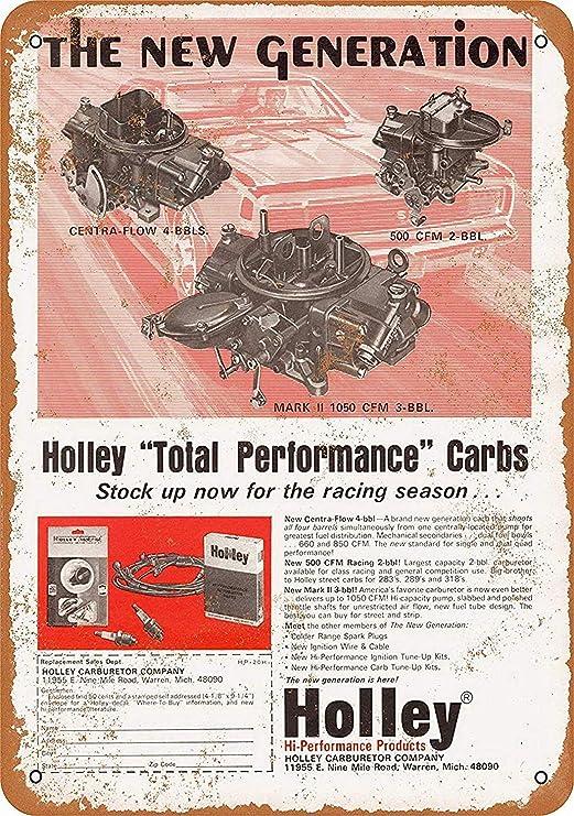 DGBELL Holley Hi-Performance Carburetors Cartel de Pared de ...