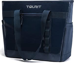 TOURIT Cooler Bag Insulated Cooler Tote Bag Soft Travel Cooler 30 Cans Large Capacity Lunch Bag for Men Women to Picnic, Camping, Beach Trip (Navy Blue)