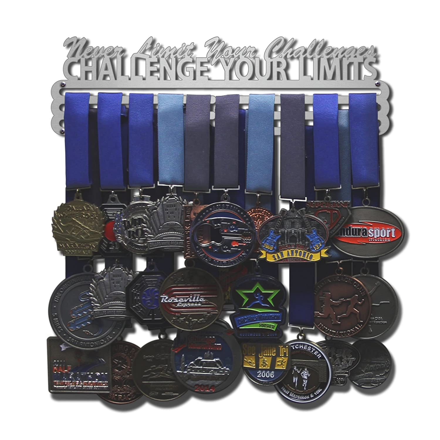 Allied Medal Hangers Challenge Your Limits Multiple Size Options Available Sports Medal Hanger Holder Display Rack