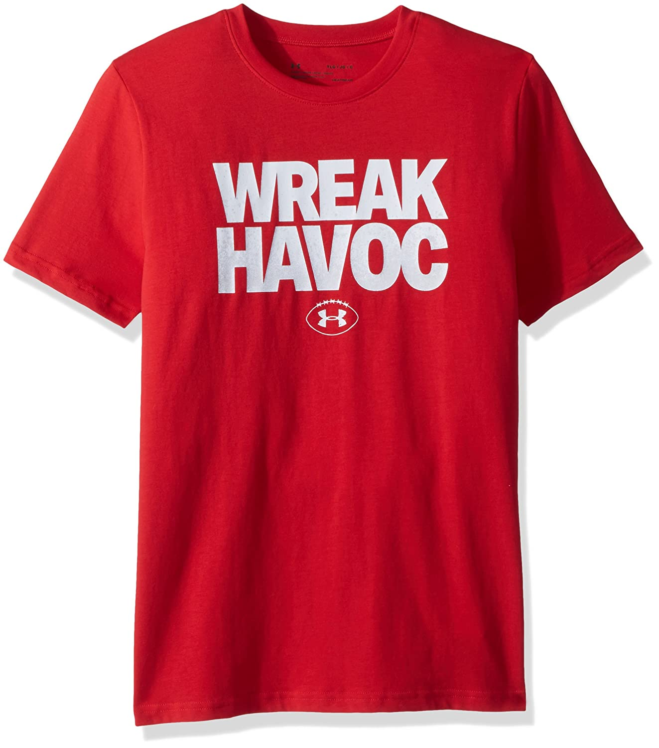 Under Armour ボーイズ Wreak Havoc Tシャツ B071P2M28S Red (600)/White Youth Medium