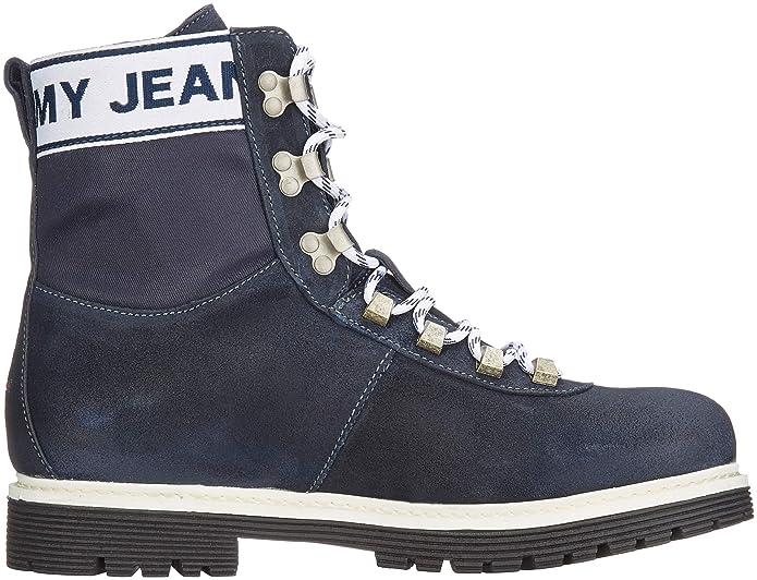 Militar Canvas para Botas Tommy Hombre Amazon es Jeans Suede Boot PqXO4