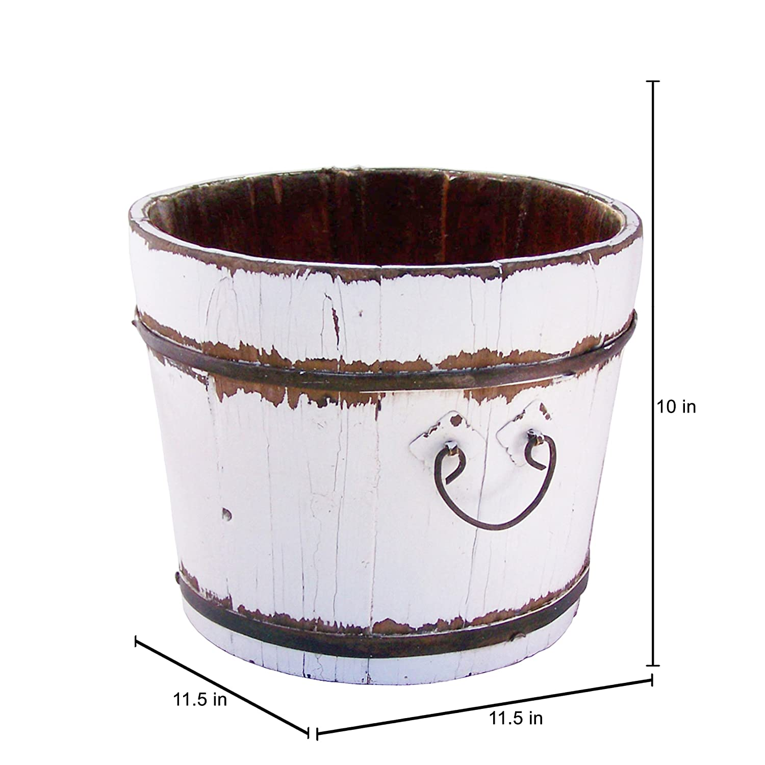 Antique Revival Vintage Chatwell Bucket White