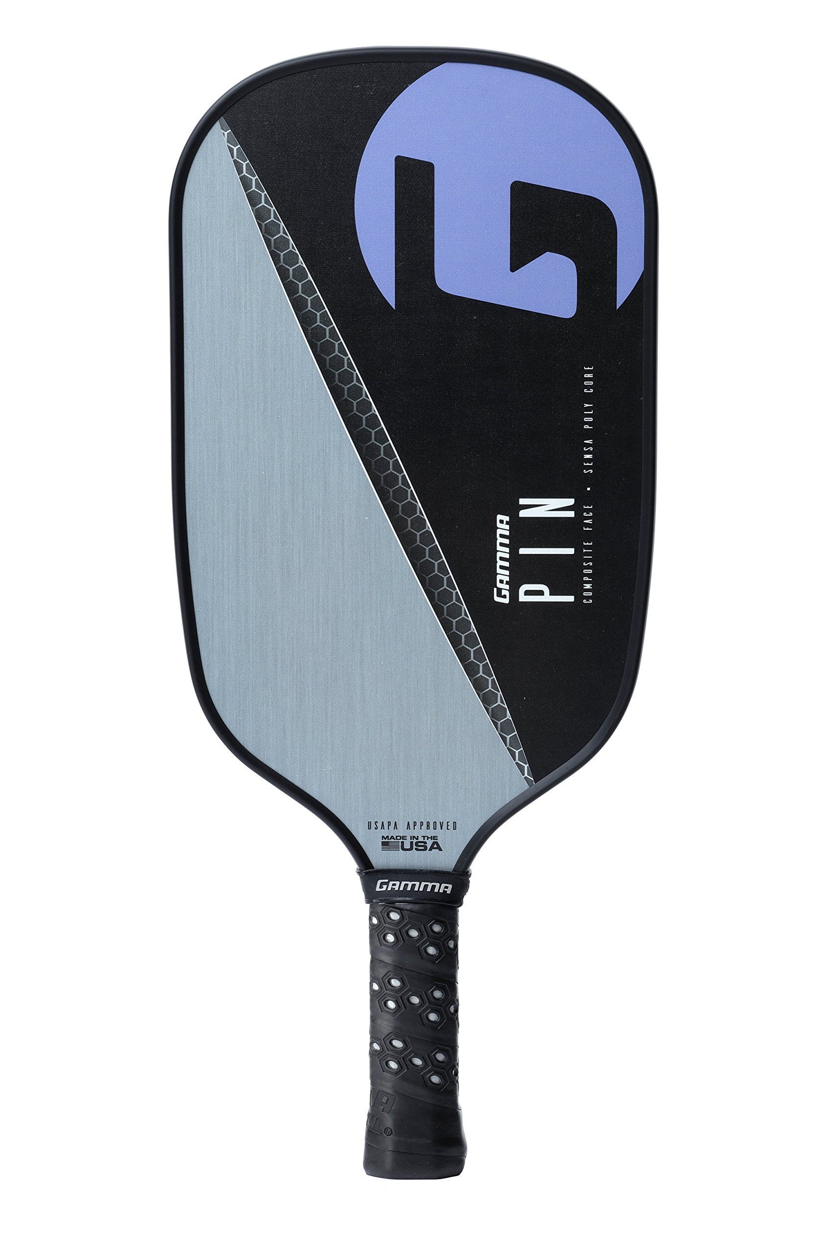 Gamma Pin Elongated Pickleball Paddle: Pickle Ball Paddles for Indoor & Outdoor Play - USAPA Approved Racquet for Adults & Kids - Pink/Blue by Gamma (Image #2)