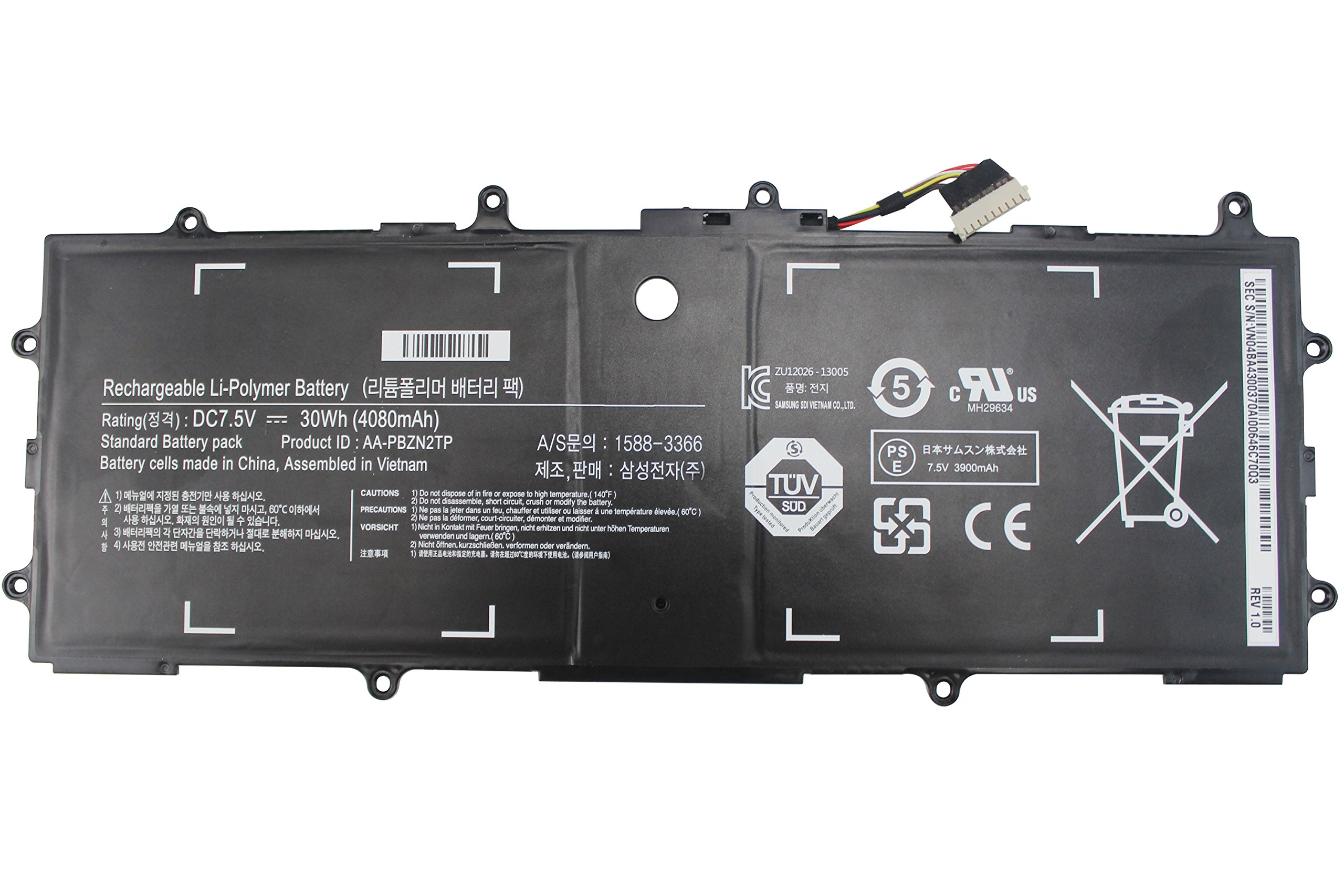 Shareway 30Wh Replacement Laptop Battery For Samsung ATIV 500T 905S3G 910S3G 915S3G Chromebook XE500T1C XE303C12 XE303 AA-PBZN2TP BA43-00355A - 12 Months Warranty!