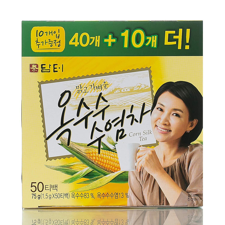 DAMTUH Korean Traditional Tea Corn Silk Tea - Caffeine-Free, 100% Pure Oriental Tea, (40 + 10) Special Pack