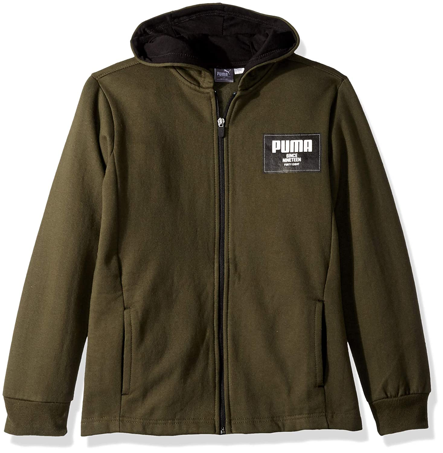 PUMA Boys Full-Zip Fleece Hoodie