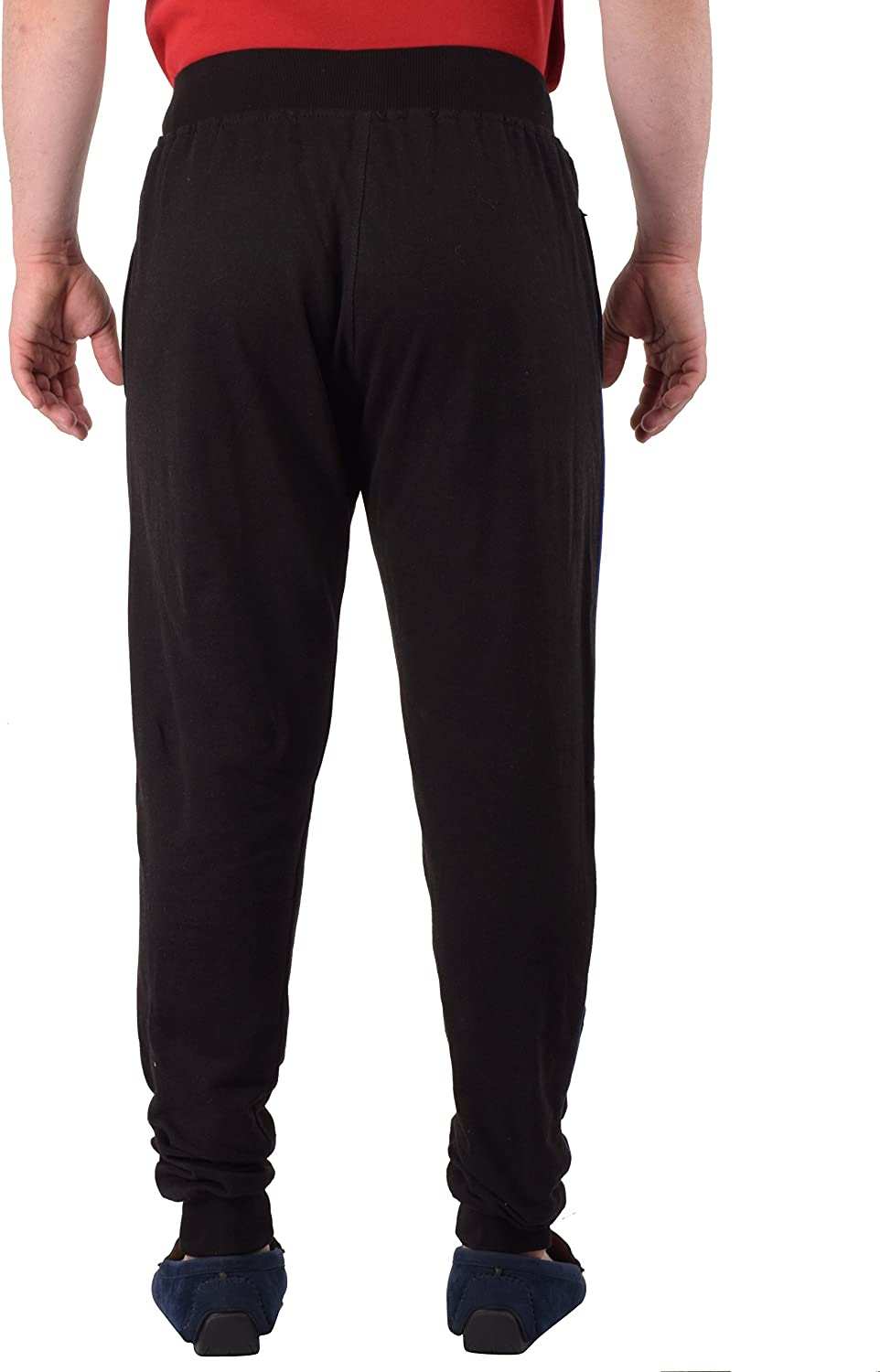 Mens Cotton Running Track Pants//Basic Jogger with 2 Zipper Pockets