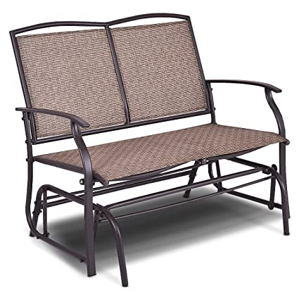 amazon com giantex patio glider bench outdoor swing loveseat rh amazon com patio glider chairs canada patio glider chair parts