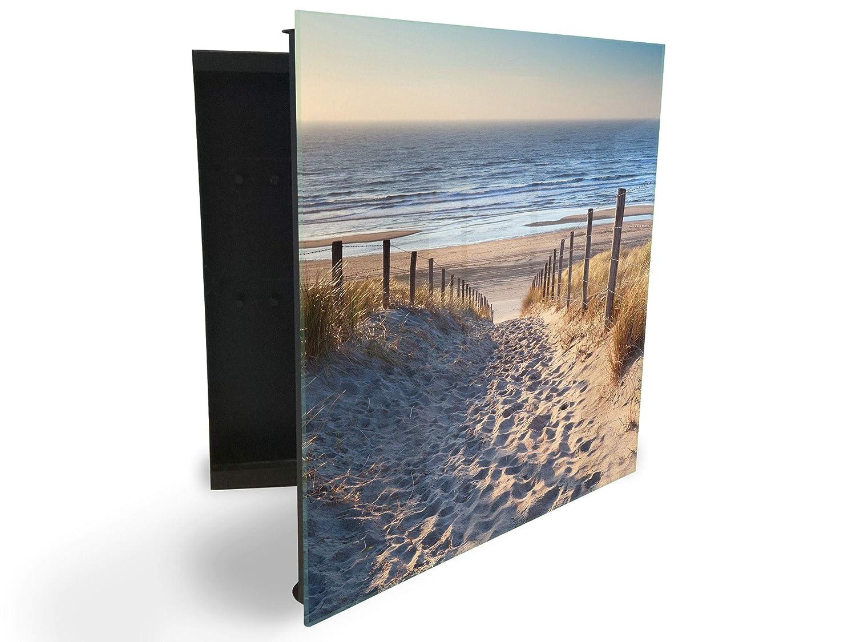 Cassetta Portachiavi con Parte Frontale in Vetro Magnetica 30 x 30 cm GlassArtist 180498779
